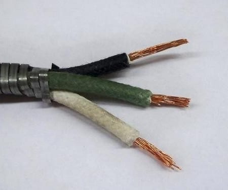 #B9908-003, 16 Gauge Triple Conductor, Armor Covered (Cotton Braided) Primary Wire (Sold By the Foot)