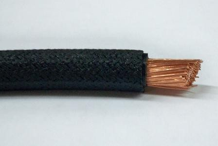 #B9937-058, #6 Gauge Black Cotton Braid Battery Cable (Sold by the Foot)