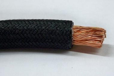 #B9927-058, #2/0 GA Black Cotton Braid Battery Cable (Sold by the Foot)