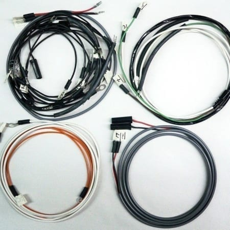 #B3028-186, John Deere 720 Gas Row Crop Tractor Wire Harness Modified For A 1 Wire Alternator