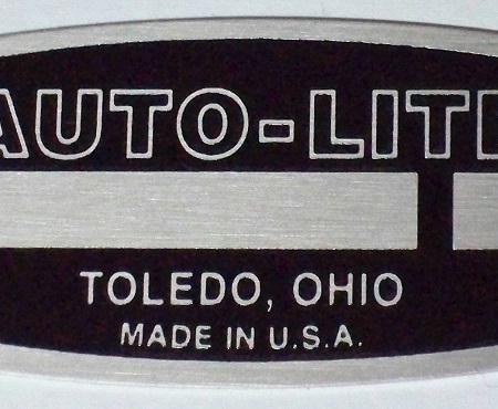 #B9013-002, Large Auto Lite I.D. Tag