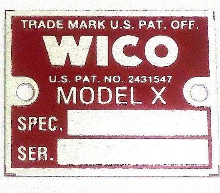 #B9013-011, WICO Series X Magneto I.D. Tag