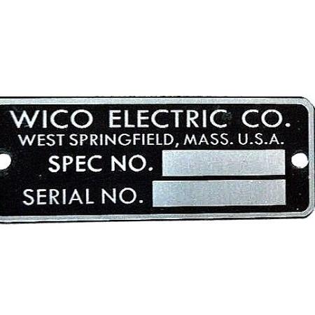 WICO B4027 I.D. Tag