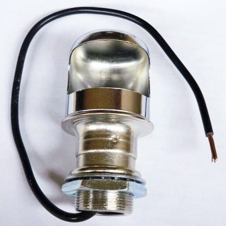#B9016-013, Chrome Finish Dash Lamp