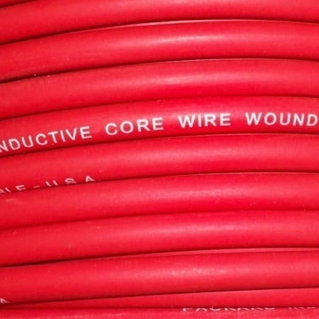 Red Packard Spiral Wound Suppression Ignition Cable (Sold By The Foot)