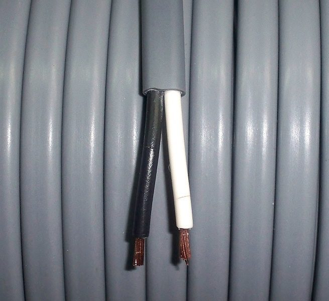 B9940-003, 14 Gauge Black & White Automotive Duplex Wire (Sold In ...