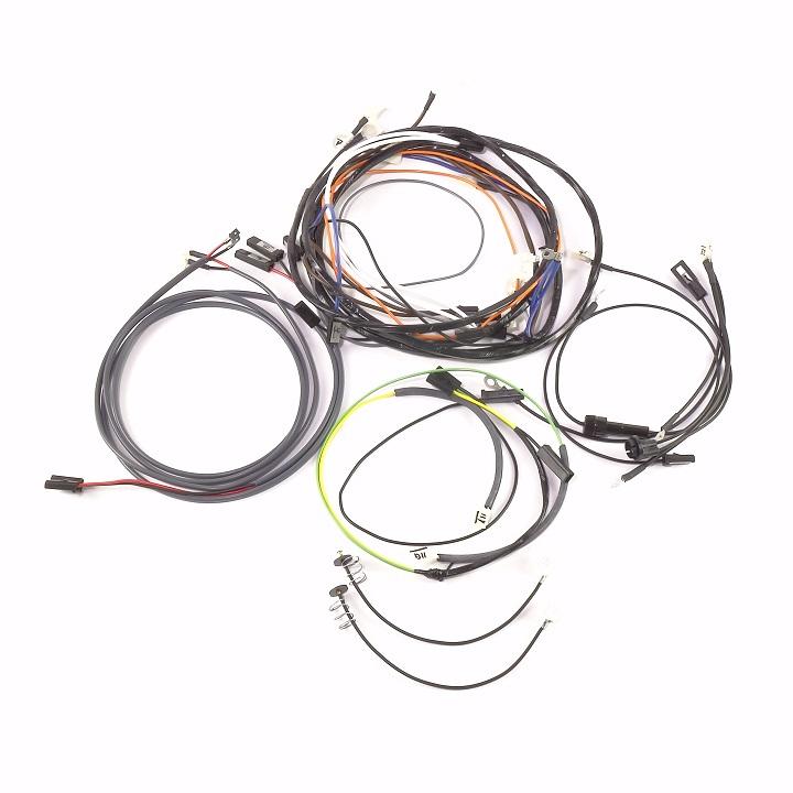 john deere 730 diesel electric start complete wire harness