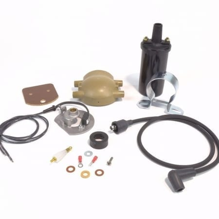#B183XTP6, 6 Volt Positive Ground Ford Front Mount Distributor Electronic Ignition Kit