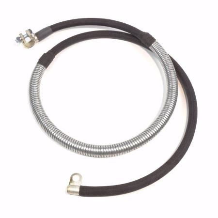 Farmall Super M-MV-MTA-MD-MDV-MDVTA Late Negative Battery Cable (With Steel Armor)