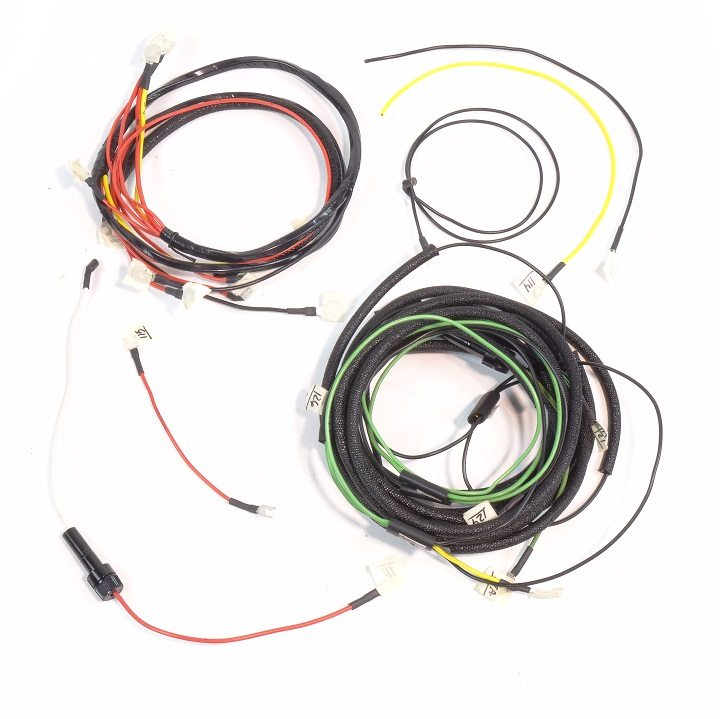 ford 1958-1964 gas complete wire harness (1 wire alternator) - the brillman company 1992 ford wire harness color code 1964 ford wire harness