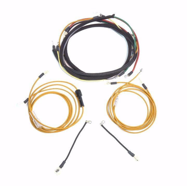 oliver 55 gas & oliver super 55 gas up to serial #46000 (kick start)  complete wire harness - the brillman company
