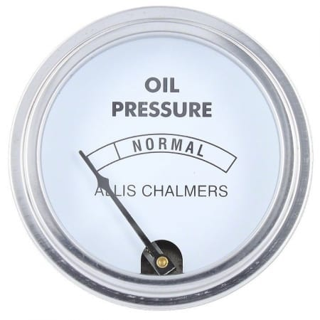 Oil Pressure Gauge 0-30 With Allis Chalmers Logo