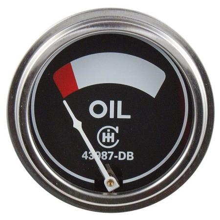 IHC/Farmall Engine Mounted Oil Pressure Gauge (0-75 PSI)