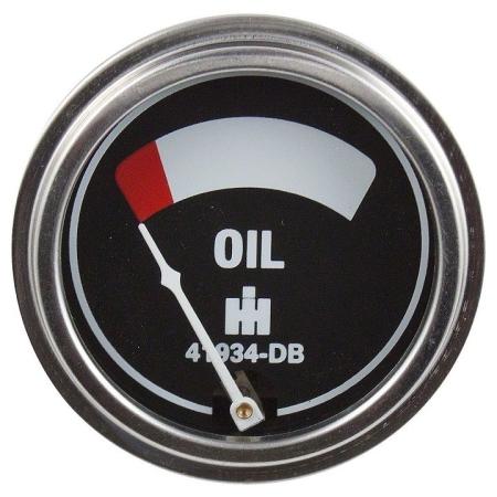 IHC/Farmall Oil Pressure Gauge (0-75 PSI) with Studs
