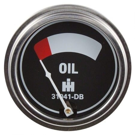 IHC/Farmall Engine Mounted Oil Pressure Gauge (0-45 PSI)
