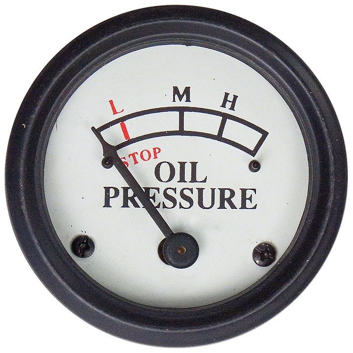John Deere Oil Pressure Gauge (0-25 PSI) Dash Mounted With
