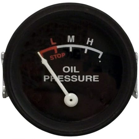 John Deere Oil Pressure Gauge (0-25 PSI) with Black Face