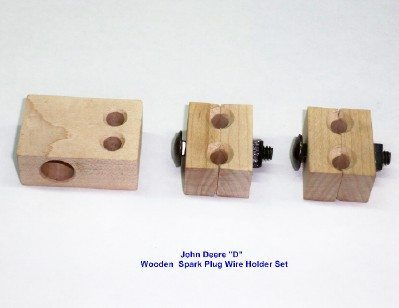 WOODEN SPARK PLUG WIRE HOLDER SET FOR JOHN DEERE D