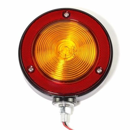 round warning light